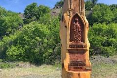Szakonyi Sándor szobra a Haláp-hegyi bazaltbányászok emlékére lett állítva