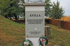 Atilla-szobra. Zelemér